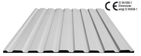Korrugerad plåt aluminium